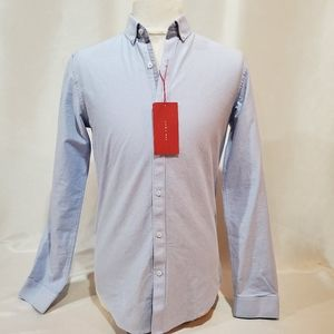 🔥 NWT Zara Man Cotton Blue dress Shirt, Small